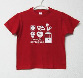 Portuguese Heart T-shirt | Red Colour