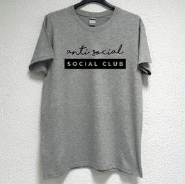 Anti Social T-shirt | Grey Colour