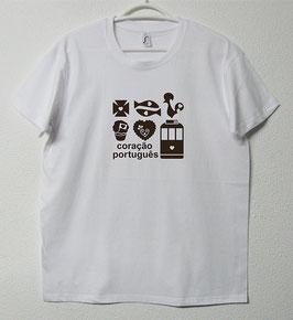 T-shirt Simbolos Portugueses | Cor Branco