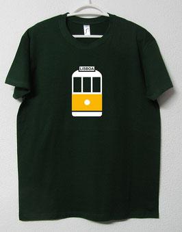 T-shirt Eléctrico 28 | Cor Verde Garrafa