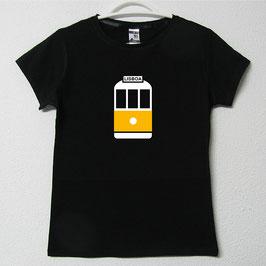 Tram 28 Woman T-shirt | Black Colour