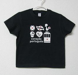 Portuguese Heart T-shirt | Navy Blue Colour