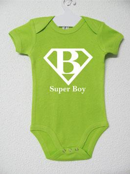 Super Boy Onesie | Lime Colour