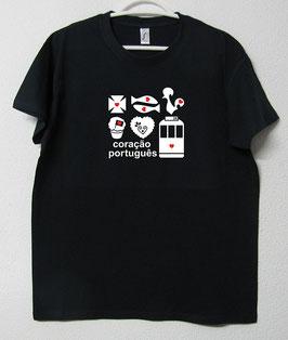 T-shirt Simbolos Portugueses | Cor Azul Marinho