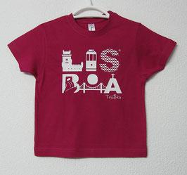 T-shirt Lisboa | Cor Fúcsia