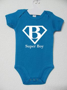 Super Boy Onesie | Aqua Colour