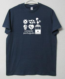 T-shirt Simbolos Portugueses | Cor Azul Denim