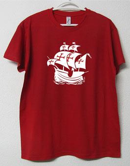 Portuguese Nau T-shirt | Red Colour