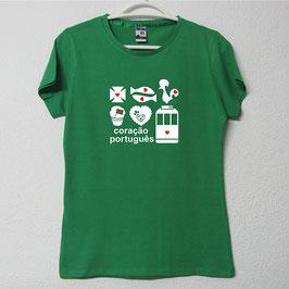 Portuguese Symbols T-shirt | Green Colour