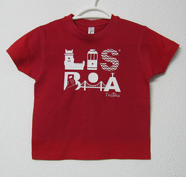 Lisboa T-shirt | Red Colour