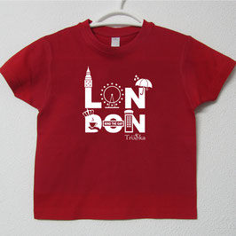 London T-shirt | Red Colour