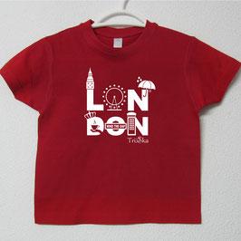 London T-shirt | Red Colour