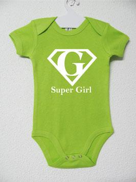 Babygrow Super Girl   Cor Lima