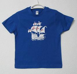 Portuguese Nau T-shirt | Royal Blue Colour