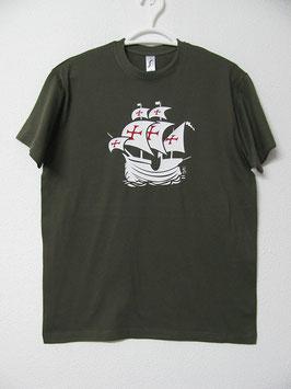 T-shirt Nau Portuguesa | Cor Verde Tropa