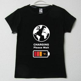 T-shirt Mulher Charging | Cor Preto