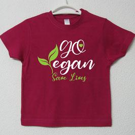 Go Vegan T-shirt | Fúcsia Colour