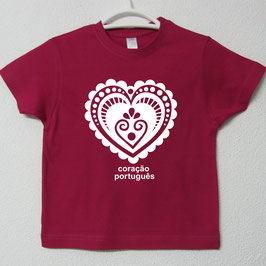 Portuguese Heart T-shirt | Fucsia Colour