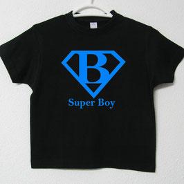 T-shirt Super Boy | Cor Preto & Azul