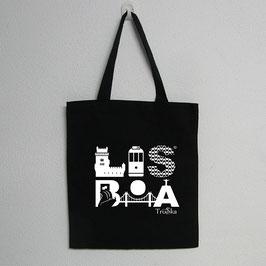 Lisboa Bag | Black Colour (Lisboa in white)