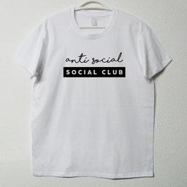 Anti Social T-shirt I White Colour