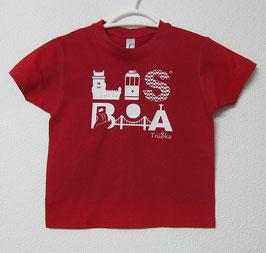 T-shirt Lisboa | Cor Vermelho