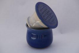 Bergische Butterdose MIT der Blume des Lebens - Blau