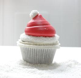 Weihnachtsmützen-Marshmallow-Cupcake