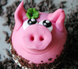 Schweinchen Cupcake!