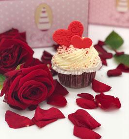 Red Velvet Cupcake mit Herz