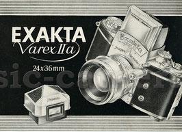 EXAKTA Varex IIa, Ergänzungen zur Gebrauchsanweisung