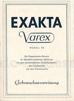 EXAKTA Varex Modell VX, Anleitung
