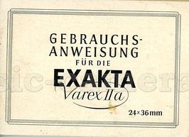 EXAKTA Varex IIa, Anleitung