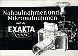 Nahaufnahmen und Mikroaufnahmen mit der Exakta Varex, Anleitung