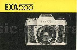 EXA 500, Anleitung