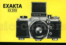 EXAKTA VX500, Anleitung, tschechisch!