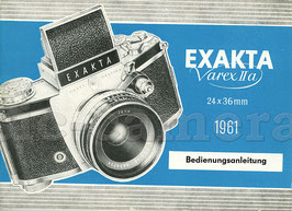 EXAKTA Varex IIa 1961, Anleitung