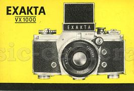 EXAKTA VX1000, Anleitung