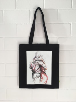 "Bio-Baumwolltasche mit Tango Kunst Print ""Tangopaar N°45"""