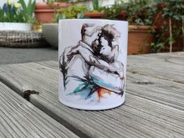 Keramik Tasse mit Tango Motiv