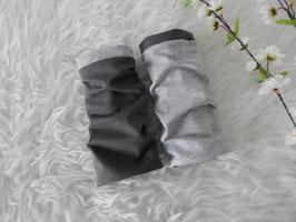 Armstulpen zum Wenden grau meliert / anthrazit
