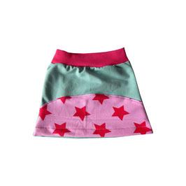 Gr. 74/80 Sweatrock mint / Sterne pink