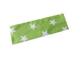 Stirnband Sterne hellgrün / weiß