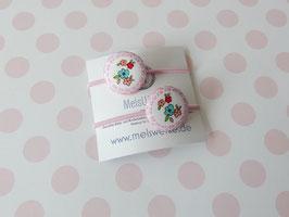 Haargummis Blumen rosa (Mädchen mit Umhang)