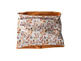 Schlupfschal Herbstblätter / ocker meliert oder terracotta