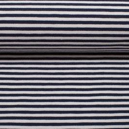 Jersey Streifen Isa dunkelblau-weiß