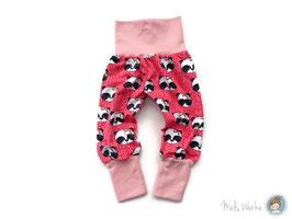 Mitwachshose Gr. 68 Pandas pink