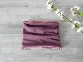 Schlauchschal aubergine (mauve) / altrosa