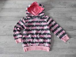 Hoodie Sterne grau-rosa Gr. 104