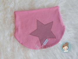 Halssocke Stern rosa/altrosa